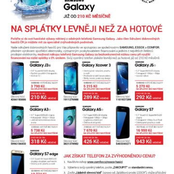 Comfor Essox Samsung nabídka