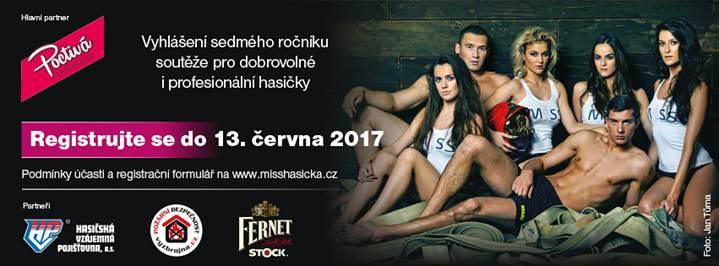 Miss Hasička a Hasič roku 2017 – registrace do soutěže